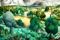 Cabbages, Springfield, Rye by Edward Burra. The cabbage patch in the foreground is in the family garden at Springfield. Spring Landscape, Landscape Art, Landscape Paintings, Landscapes, Landscape Sketch, American Poets, Heart Art, Painting & Drawing, Painting Styles