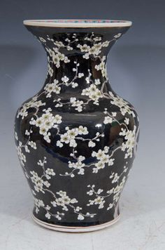 19th Century Chinese Vase with Cherry Blossoms   From a unique collection of antique and modern ceramics at https://www.1stdibs.com/furniture/asian-art-furniture/ceramics/