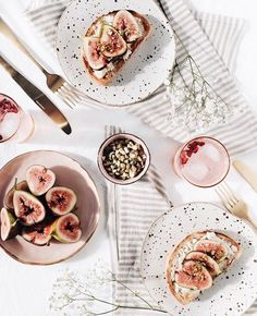 Figs on toast, a lovely looking spread