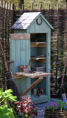 Simple Potting Shed renovated designs for your backyard project Whimsical Garden. - Simple Potting Shed renovated designs for your backyard project Whimsical Garden Tool Shed - Diy Storage Shed, Garden Tool Storage, Diy Shed, Garden Tools, Garden Sheds, Small Storage, Small Garden Tool Shed, Backyard Storage, Storage Ideas
