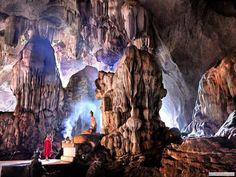 Sa Dan Buddhism Cave, Kayin(Karen) State, Myanmar