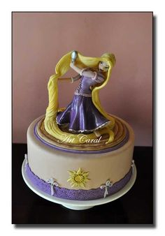 "RAPUNZEL CAKE       ""Art Caral diseño en azúcar"""