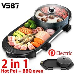 Sweettreats 1pcs Korean Style Non-stick Smokeless Barbecue Bbq Pan Grill Bright In Colour Outdoor Sports Camping & Hiking