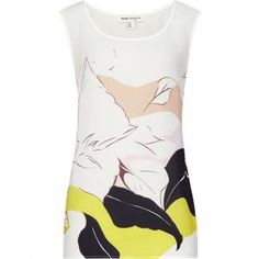 31% Off Reiss - Tank Top 1971 Genesis Printed Silk Nectar - $100
