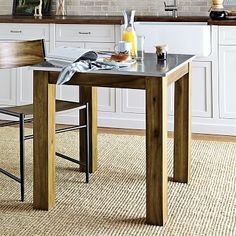 Rustic Kitchen Square Table #westelm