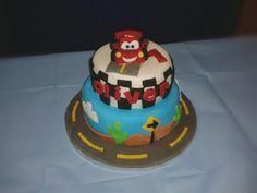 Disney 'Cars' two tier birthday cake