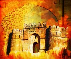 Pakistan Posters - Rohtas Fort 00 Poster by Catf Background Wallpaper For Photoshop, Banner Background Images, Photo Backgrounds, Hd Wallpaper, Tiger Artwork, Mughal Architecture, India Art, Islamic World, Sale Poster