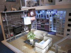 Miniaturas modernas loft actual salón 2