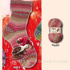 Simply Socks Yarn Company - Opal Sweet n Spicy 2 8616, $15.00 (http://www.simplysockyarn.com/opal-sweet-n-spicy-2-8616/)