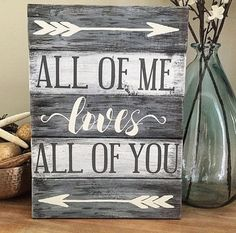 nice All of me loves all of you sign | Wedding Gift | Rustic | Planked | Vintage | Pallet sign | Engagement Gift | Love Sign | John Legend quote by http://www.coolhome-decorationsideas.xyz/bedroom-designs/all-of-me-loves-all-of-you-sign-wedding-gift-rustic-planked-vintage-pallet-sign-engagement-gift-love-sign-john-legend-quote/