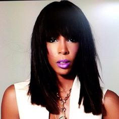 Kelly Rowland wearing a custom lip color by Ashunta Sheriff