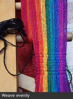 How To Warp Weave on an Inkle Loom Inkle Weaving, Inkle Loom, Card Weaving, Tablet Weaving, Types Of Weaving, Nativity Crafts, Weaving Patterns, Tapestry Weaving, Weaving Techniques