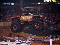 goldberg Monster Trucks   Now on the right we have the Goldberg Monster Truck flying in mid air.
