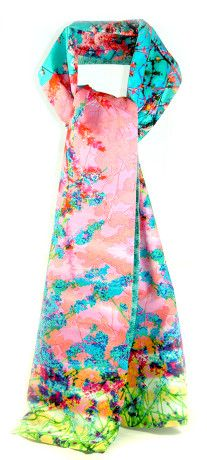 Spring-Blossom-cotton chiffon scarf SS 2016