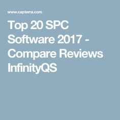 Top 20 SPC Software 2017 - Compare Reviews InfinityQS
