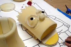 Foam Bart Simpson Head (in progress) image