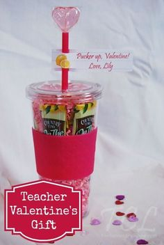 Teacher Valentines Day Gift Idea: Drink Tumbler