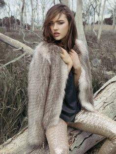 Unreal Fur Furry Floss Jacket - Chocolate Racoon s