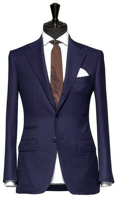 Tailored 2-Piece Suit – Fabric 4345 Check Blue Cloth weight: 260g ...