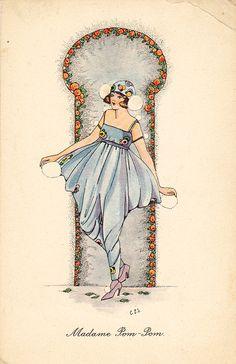 C.E Shand 'Madame Pom Pom' 1920s