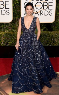 Jenna Dewan Tatum from Best Dressed at 2016 Golden Globes  Midnight magic! The actress sparkles in midnight blue Zuhair Murad.
