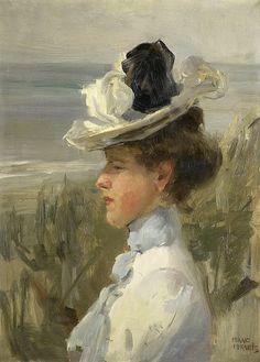 Israels, Isaac -- Jonge vrouw, uitkijkend over zee, 1895-1900. Рейксмузеум: