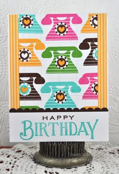 Heart-To-Heart Birthday Card by Dawn McVey for Papertrey Ink (May 2012)