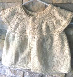 Knit Baby Cardigan  Baby Clothes  Baby Girl by FunkyAirBear