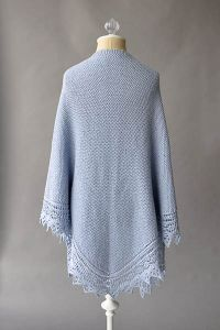 Soothing Shawl Pattern by Rachel Brockman, knit in Fibra Natura Papyrus.  Free pattern!