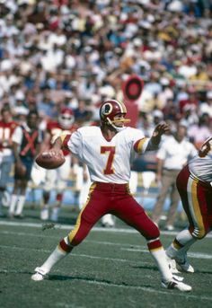 Joe Theismann, Washington Redskins in his gunslinger days.
