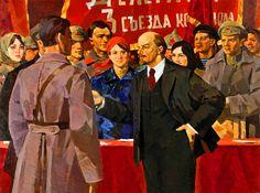 Lenin at the Third Komsomol Convention