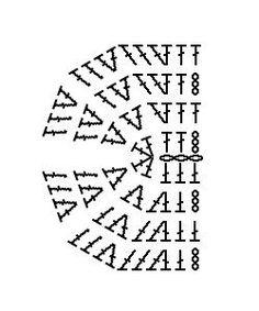 【編み方解説】長編みで半円の編み方