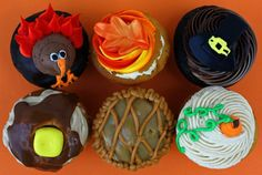 Thanksgiving  Cupcakes Thanksgiving Cupcakes, Cute Cupcakes, Sweet Tooth, Treats, Desserts, Food, Sweet Like Candy, Tailgate Desserts, Goodies