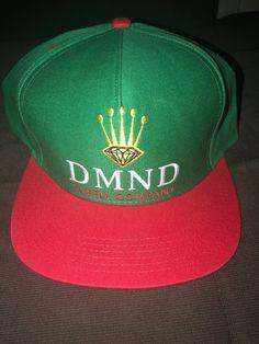 7990ece397a Men s Diamond Supply Hat Green Red SnapBack  Skater Brand Gold Diamond
