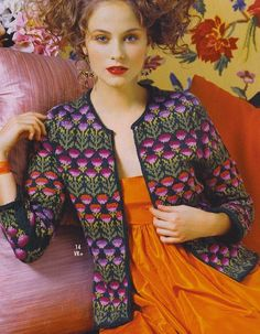 Цветочная куртка от Kaffe Fassett.. Обсуждение на LiveInternet - Российский Сервис Онлайн-Дневников