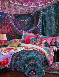 boho bedding Bohemian Tapestries Hanging Ethnic Decorative tapestry - Home Decor Styles Bohemian Tapestry, Bohemian Bedding, Bohemian Style Bedrooms, Bohemian Decor, Bohemian Gypsy, Boho Style, Boho Chic, Hanging Tapestry, Gypsy Style