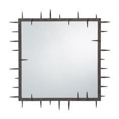 """Spiked Square Mirror 34"""" 1.300 Arteriors"""