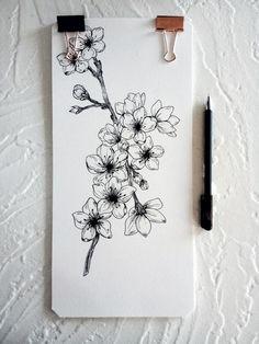 Floral Tattoo Design, Sunflower Tattoo Design, Henna Tattoo Designs, Cute Tiny Tattoos, Unique Tattoos, Cherry Blossom Art, Future Tattoos, Piercings, Arm Band Tattoo