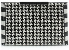 J.Crew Textured leather houndstooth clutch on shopstyle.com