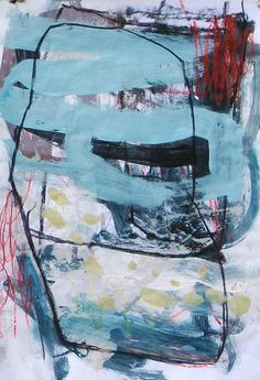 Suzanna Lang. Intuitive painting. Abstract art. Color. Blue. Line.