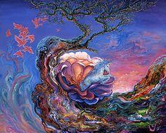 """Birth of a Unicorn 2"" par Josephine Wall"