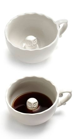 Peek-a-hoo Owl Teacup ♥