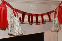Jolly banner christmas banner holiday banner by CinderellaRags