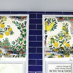 Schumacher Citrus Garden Roman Shade (Holly Hickey Moore Interior Design)