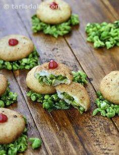 Rava Green Peas Tikki recipe | by Tarla Dalal | Tarladalal.com | #33065