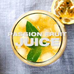 Passion Fruit Juice Recipe [Maracuja] - Fresh homemade fruit juice drink with tropical passion fruit pulp for breakfast or as a summer beverage. I share how to cut and use a passion fruit in my video. Juice Cleanse Recipes, Detox Smoothie Recipes, Healthy Juice Recipes, Healthy Juices, Healthy Fruits, Fruit Tea Recipes, Smoothies, Juice Drinks, Fruit Drinks