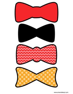 Bowties from Elmo Inspired Printable Photo Booth Prop Set
