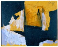 Robert Motherwell, 'Study in Automatism,' (1977) Medium: acrylic on canvas. #art #abstract #expressionism