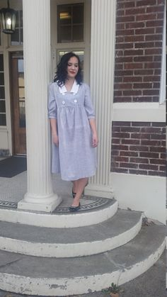 This 1960s classic peasant dress is a great dress for every day use. Its comfortable and stylish and will be the envy of the neighborhood. Just