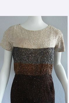 1950s Norman Hartnell Beaded Dress